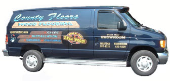 County Floors delivery van