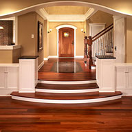 Foyer with wood flooring