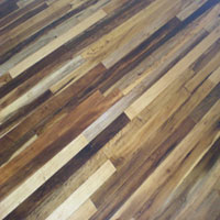 Imbuia milled into flooring