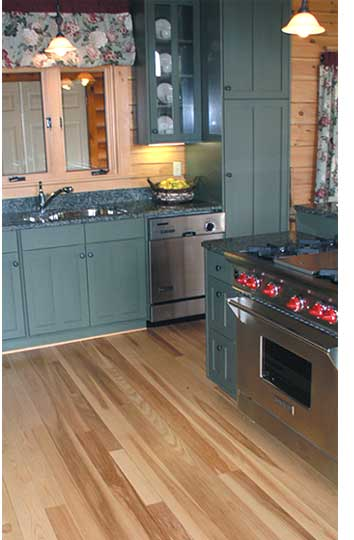 Quality wood flooring in a kitchen