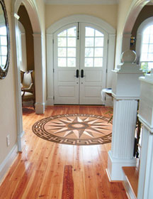 Oshkosh Inlay Floor Medallion